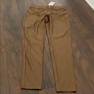 Brand new brown leather tights/pants! Size M